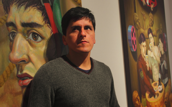Hugo Salazar Chuquimango: pintor de día, vigilante de noche
