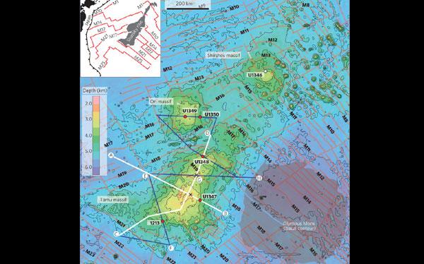 El volcán más grande del mundo está en el Océano Pacífico