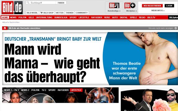 Un hombre transexual dio a luz a un bebe por primera vez en Alemania