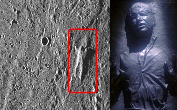 La NASA 'encontró' a Han Solo en la superficie de Mercurio