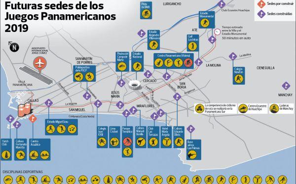 Lima 2019: mira el mapa de la ciudad con todas las sedes y deportes