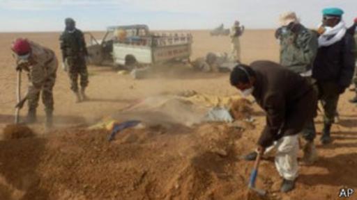 Los cuerpos fueron enterrados bajo la tradición musulmana a medida de que fueron hallados.