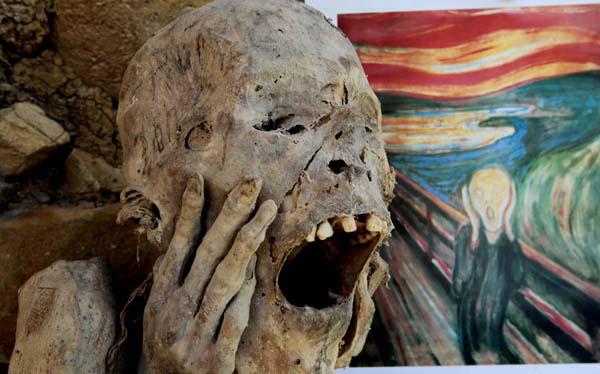 """Momia peruana inspiró """"El grito"""" de Munch"""