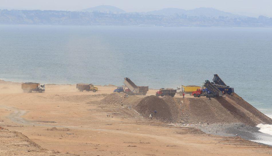 La Marina denunciará a implicado en descarga de desmonte en San Miguel