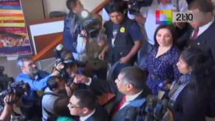 Cecilia Valenzuela fue impedida de declarar dentro del Congreso [VIDEO]