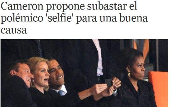 Polémico 'selfie' de Barack Obama con primera ministra danesa sería subastado
