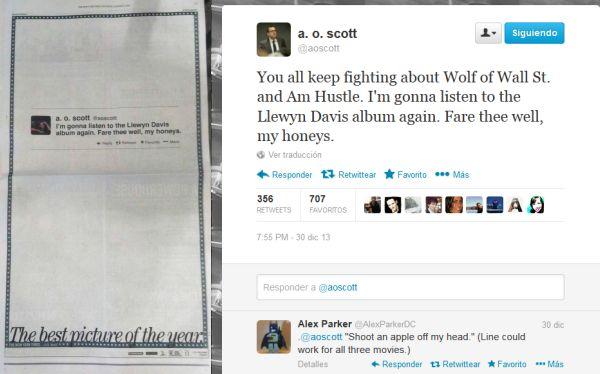 "Un tuit se convirtió en un aviso a página completa en ""The New York Times"""