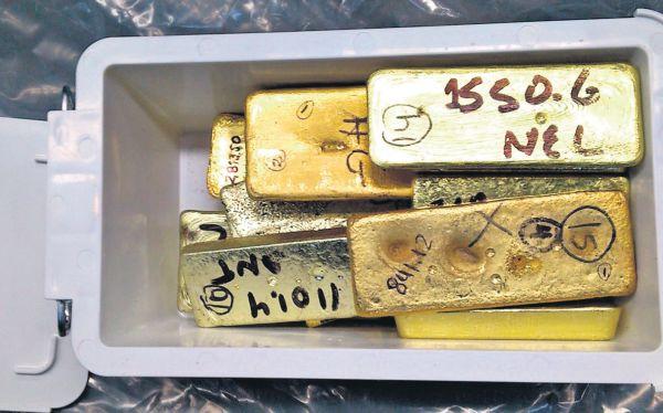 Agentes de Aduanas de Sunat intervinieron, el 4 de diciembre, parte de los 508 kg. de oro de origen ilícito.